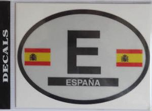 Spain Country Flag Oval Decal.